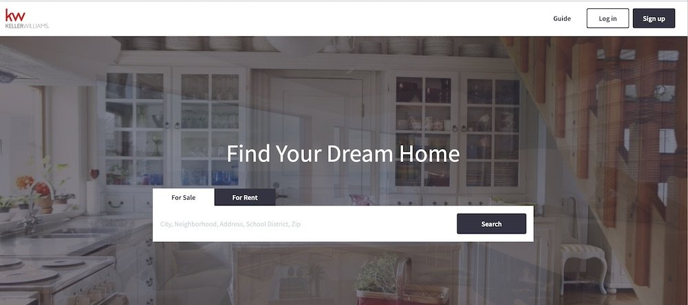 real estate marketing website