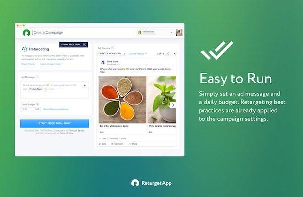 retarget app for shopify