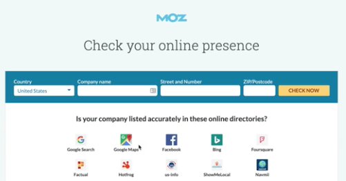 moz local listing seo scanner