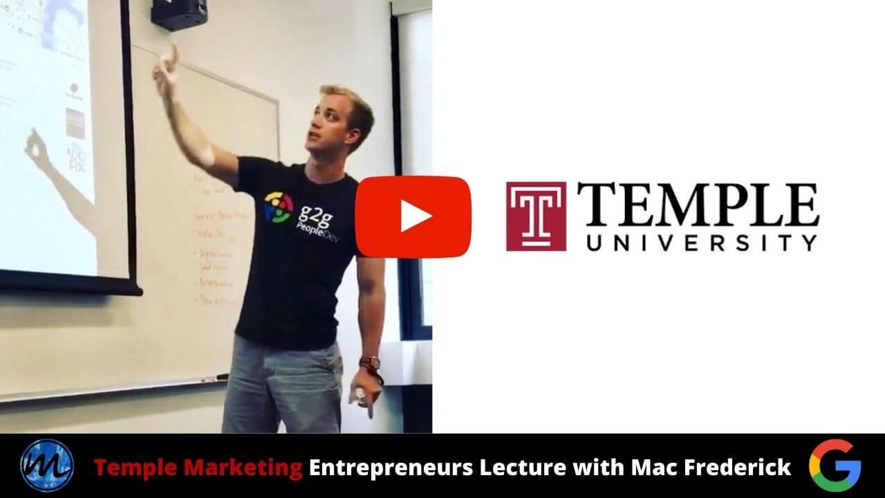 temple marketing entrepreneurs