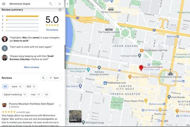 Local SEO Marketing Reviews Philly