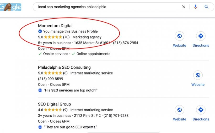 local seo marketing agencies philadelphia