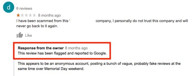 remove a bad review from google