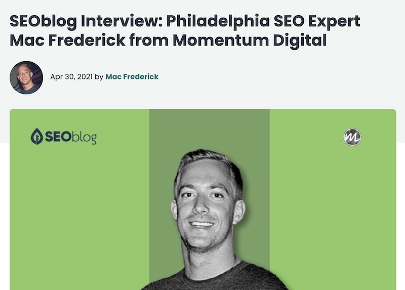 SEO Marketer Interview