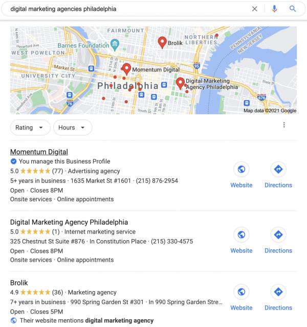 Marketing Checklist for Businesses in Philadelphia - Google My Business