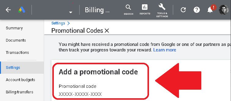 google ads promotional voucher