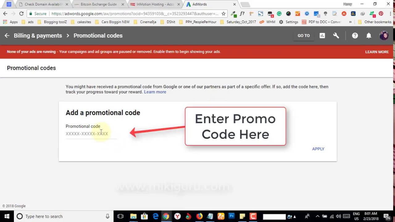 promo code google ads