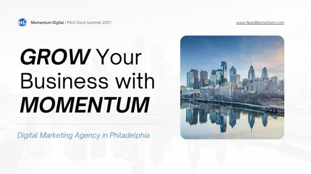 Momentum Digital marketing pitch deck