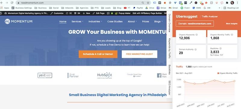 domain authority ubersuggest